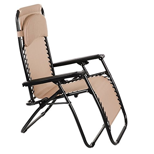 Tumbona plegable silla reclinable con almoadilla - Silla de playa plegable ...