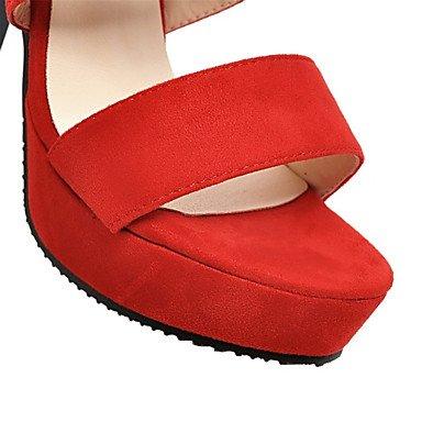 LFNLYX Donna tacchi Primavera / Autunno / Inverno piattaforma / Comfort materiali personalizzati / similpelle matrimonio abito / / Casual Chunky fibbia tacco Red
