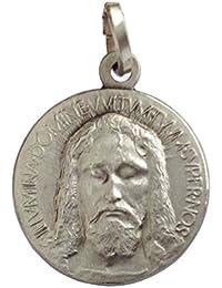 Medalla de Santa Cara de Cristo de Plata Maciza 925