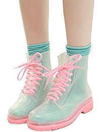 6b85e82765 Mini Balabala Stivali di Gomma Moda Donna Stivali da Pioggia Stivaletti da  Equitazione Antiscivolo Wellington Boots