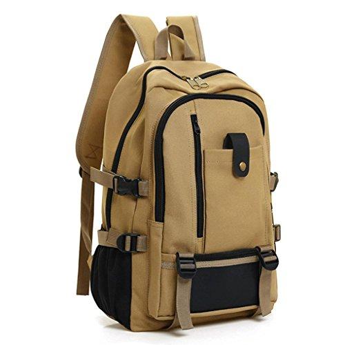 Rucksack Fashion Neutral School Bag Gripesack Backpack Handbag Bookbag/Men Backpacks Unisex Leather Casual Bags Shoulder Backpack for College School Women Hiking Vintage Canvas Backpack (B)
