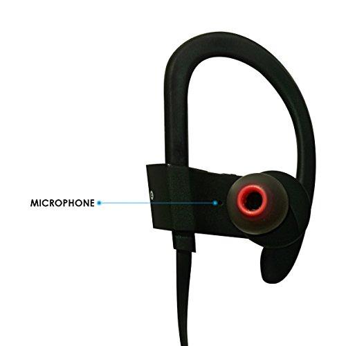 Honstek H9 drahtlose Bluetooth 4.1 Sport Kopfhörer / Headsets / Ohrhörer / Kopfhörer mit Mikrofon für Gym, Rennen, Jogger, Wandern, Übung für iPhone, Samsung, Galaxy, Android Handys, Bluetooth Smart TV (Schwarz/Grau) - 4