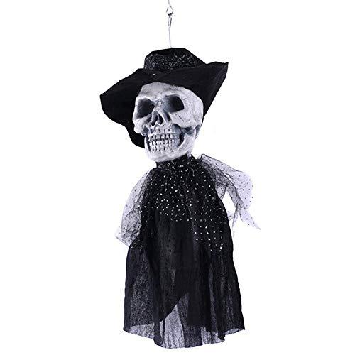 ke Maskerade Prom Maske Halloween Ghost Festival Horror Requisiten Geisterhaus Kammer Bar Kopf Bräutigam Braut hängen elektrisch, Braut ( Farbe : Groom ) ()