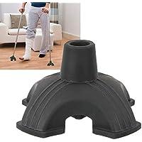 Trípulo de goma, punta de caña de apoyo triple de goma Soporte de cuatro bases de goma autoestable antideslizante Cojín de bastón para caminar 19 mm agrega estabilidad a su bastón de caminata