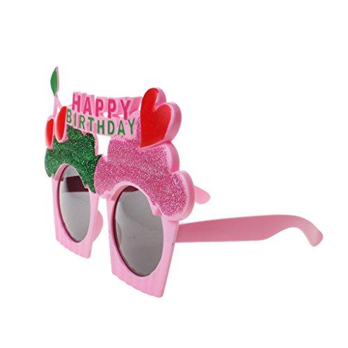 MagiDeal Happy Birthday Kuchen Herz Kirsche Sonnenbrille Fancy Dress Hen Night Party