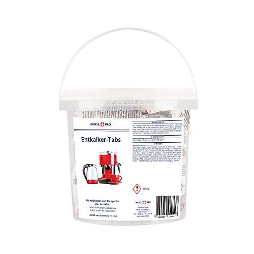 Hansepro Entkalker-Tabs, 1 x 50 Stück I Entkalkungstabletten I Universal-Entkalker I Kalklöser I für Kaffee-Vollautomaten, Kaffee-Maschinen, Wasserkocher, Kaffee-Padmaschinen I für Marken aller Hersteller geeignet