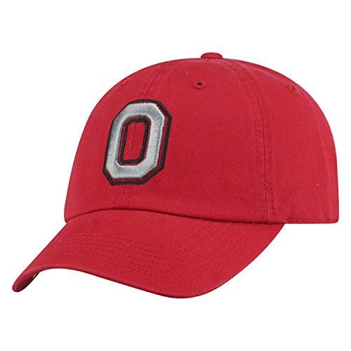 Top of the World NCAA Herren College Town Crew verstellbar Baumwolle Crew Hat Cap, Herren, Ohio State Buckeyes-Scarlet with Block O, Einstellbar Block-logo-hut