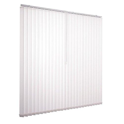 Lamelle tenda set completo ventanara vertikaljalousie 89mm con materiale di montaggio, bianco, 200x180 cm (breite x höhe)