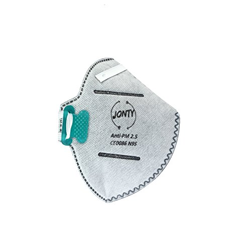 Jonty TM N95 PM 2.5 Anti-Pollution Activated Carbon Face Mask with Breathing Valve (Grey, Pack of 1)  available at amazon for Rs.99