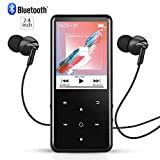 16GB Bluetooth MP3 Player HiFi Lossless Sound Quality Up to 50Hrs Playback, AGPTEK