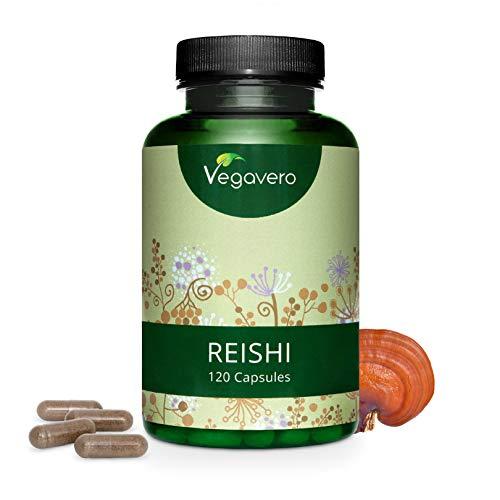 Reishi Vegavero® 4000 mg | Testado en Laboratorio | 20% POLISACÁRIDOS | Sistema Inmunológico + Energizante + Estrés + Antioxidante | 120 Cápsulas | Vegano