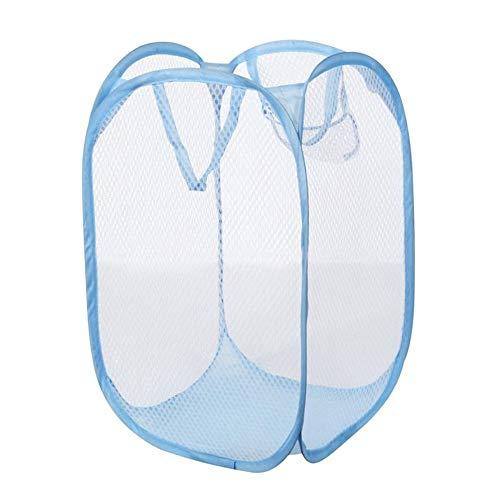 JJHR Wäschekorb Faltbare Kleidung-Speicher-Körbe Maschen-Waschende Schmutzige Kleidung Wäschekorb Portable Kleinigkeiten Organisator Toy Container, Q