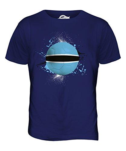 CandyMix Botswana Calcio T-Shirt da Uomo Maglietta Blu Navy