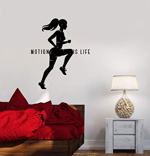 Wandaufkleber Für Schlafzimmer, gesunde Lebensweise Motivation Sport Frau Laufen Büro Dekoration Tapete Poster Kunstwerk Moderne Malerei Für Vinyl Geschenk