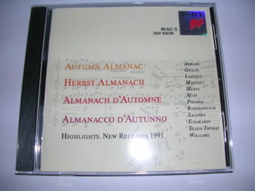 Sony Herbst Almanach - Highlights. New Releases 1991