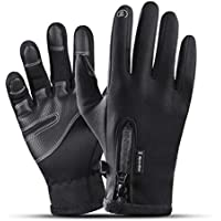 ZXQY Winter Knit Thicken Warm Full Finger Gloves Outdoor Sports Gloves Touch Screen Wool Long Finger Gloves