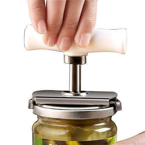 Edelstahl Deckelöffner Schraubdeckelöffner Flaschenöffner Verstellbare Größe Öffnungshilfe Glasöffner für Schraubgläser Flaschen und Einmachgläser