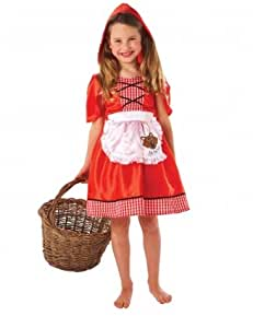 Christys Dress Up Red Riding Hood Dress and Cape Costume (Medium)