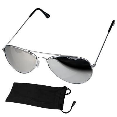 Gafas de Sol con lente de efecto espejo Estilo Piloto Sunglasses