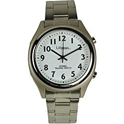 Lifemax/RNIB Men's Talking Atomic Watch 407.1 with Bracelet