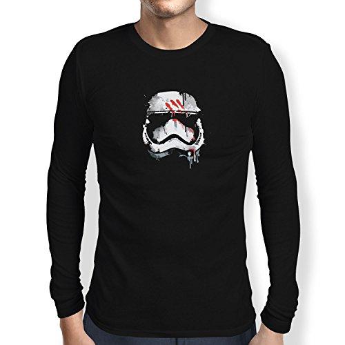 TEXLAB - Signed Trooper Painting - Herren Langarm T-Shirt, Größe M, schwarz