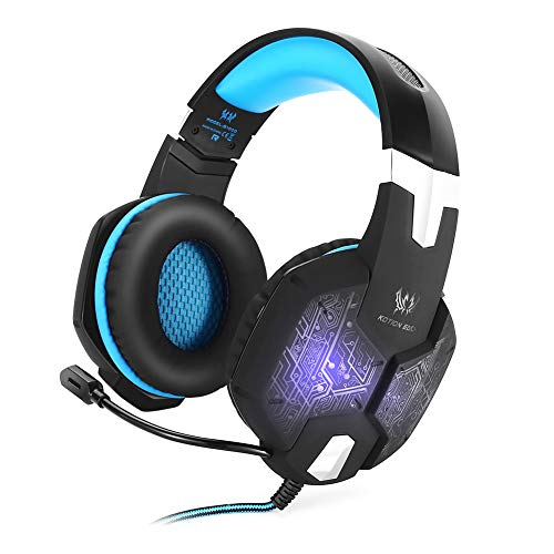 G0O03q3e In-Ear-Kopfhörer, kabelgebunden, für alle G1000 Stereo-Gaming-Headset, LED-Kopfhörer mit Mikrofon für PC blau Sony Wireless-hi-fi