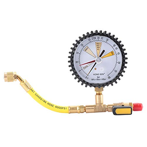 Manometer, Klimaanlage Kältetechnik Stickstoff-Drucktest Geeignet für R134a, R22, R407C, R410A für Klimaanlagen/Kältemittel/Autos