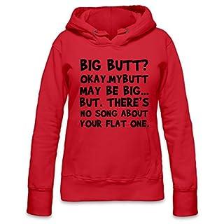 Big Butt Funny Slogan Womens Hoodie X-Large