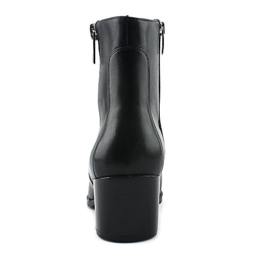 Marc Fisher Blur Rund Leder Mode-Stiefeletten Black Leather