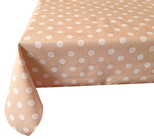 Wachstischdecke Gartentischdecke, Küchentischdecke KLEINE Punkte Sortiment nach Öko Tex Standard 100 (140 cm Rund, Hellgrün)