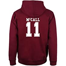Beacon Hills Hoodie a Capuche Wolf Teen Homme Bordeaux McCall 11 - Small