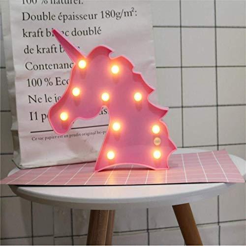 CC6 Lumière de Nuit Ins Props Licorne Tête Tir Décoratif Lumières LED Lampe de Bureau Mignon Chambre des Enfants Styling Nuit Lumière Rêve Tenture Murale