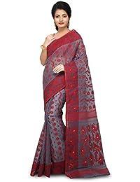 f837f264c57189 WoodenTant Women s Silk Cotton Dhakai Jamdani Saree (DJ110