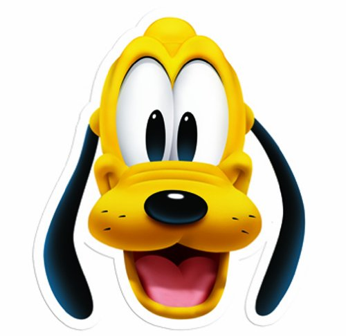 te Gesichtsmaske of Pluto (Erwachsenen-pluto-kostüm)