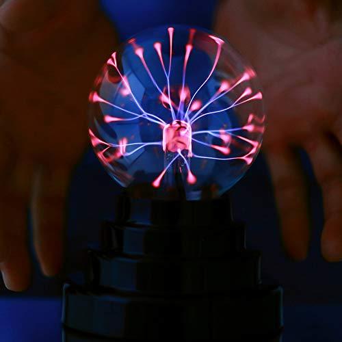 Magischer Elektrostatische Kugel, tragbarer Mini-Plasma-Blitzball, USB oder batteriebetrieben als Geburtstags- und Feriengeschenk, dekoratives Nachtlicht (Mini-kugel-leuchten)