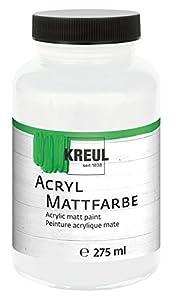 KREUL 75001-Acrílico Color Mate, 275ml Cristal, Color Blanco