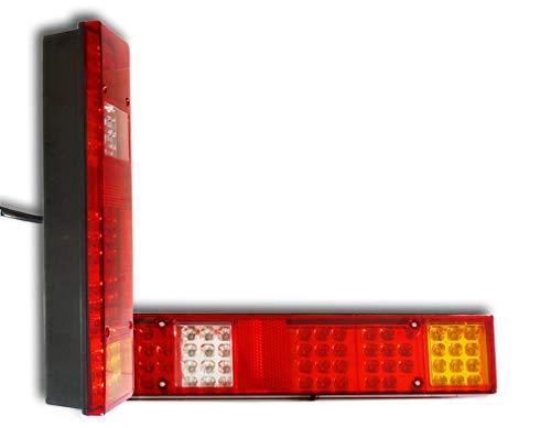 2 x 24 V Universal 60 LED Rücklichter Rücklicht Blinker Rückfahrlicht Nebelscheinwerfer für LKW, Wagon, LKW, Anhänger, Bus, Fahrwerk, maßgeschneiderte Projekte