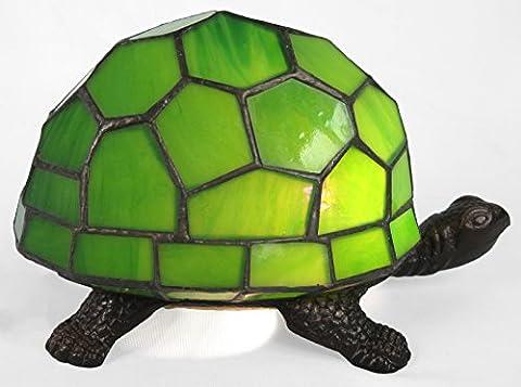 Tiffany Style Green Turtle Tortoise Design Table Lamp 22cm
