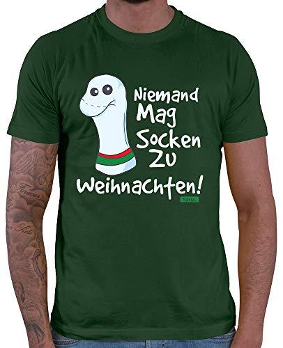 HARIZ  Herren T-Shirt Niemand Mag Socken Zu -