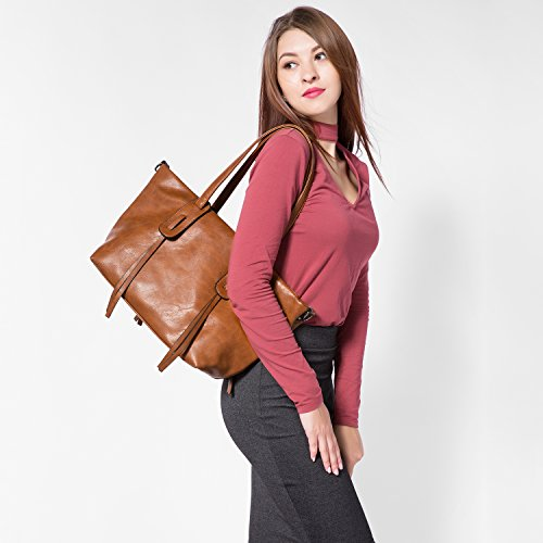 Sacchetti di borsa per il sacchetto di spalla della borsa della borsa delle donne con fascino della nappa Nero