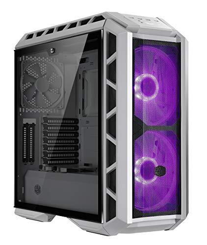 Cooler Master MasterCase H500P Mesh White - Cajas de ordenador de sobremesa 'Alto flujo de aire, LED RGB, Panel lateral de vidrio templado' MCM-H500P-WGNN-S00