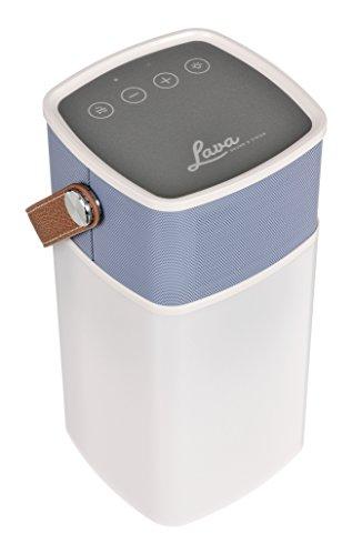 Lava BT-LAMP2-BL BrightSounds 2 Laterne, Bluetooth-Lautsprecher und Energien-Bank blau