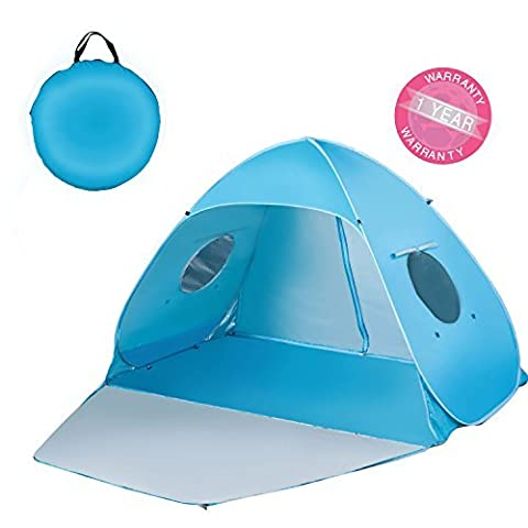 Outdoor Automatic Pop up Instant Portable Cabana Beach Tent 2-3 Person Anti UV Beach Tent Beach Shelter, Sets up in Seconds 78.7 x 47.3x 51 by Sunsmiler