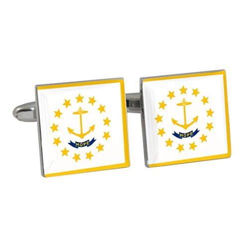 Rhode Island US diseño de bandera de Estado Gemelos en caja de regalo