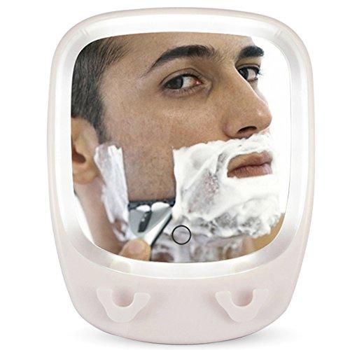 MYITIAN Bad Beleuchtete Make-up-Spiegel [Erbsen zu Black Mirror] 3[Zeiten Vergrößerungsspiegel] HD berührungsempfindliche Schalter Saugnäpfe hängenden Spiegel-A (Bronze-beleuchtete Make-up-spiegel)