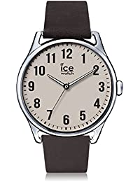 Ice-Watch - ICE time Dark brown Beige - Montre marron pour homme avec bracelet en cuir - 013045 (Large)