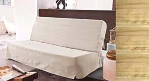 HOUSSE de CLIC CLAC BEIGE  100% coton