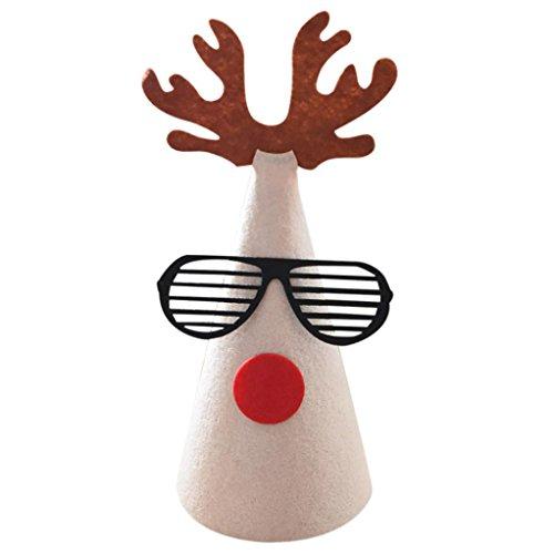 OHQ Décorations de Noël Cartoon enfants chapeau de Noël en carton enfants chapeau (A)