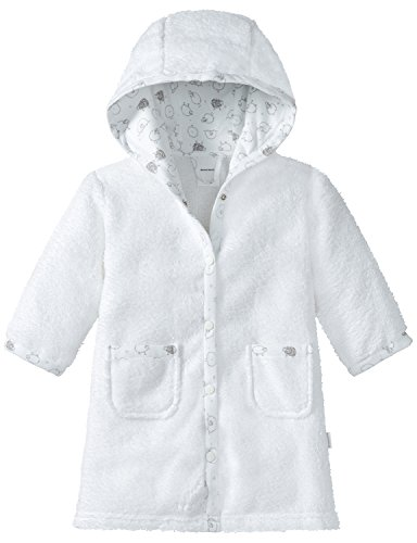 Schiesser Unisex Baby Bademantel, Weiß (Weiß 100), 80 (Herstellergröße: 413)