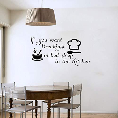 im Bett Vinyl abnehmbare Schüssel Kochmütze Wandaufkleber abnehmbare Vinyl Art Decal Home Decor 123cmx58cm wollen ()